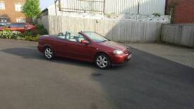 Convertible Vauxhall Astra with long mot ,electric roof all working ok ,px welcome