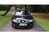 2007 (57) SEAT LEON 2.0 TDI FR 170 BHP black £3595 *astra 308 c4 focus golf gt tdi audi a3 size