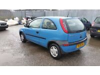 2001 VAUXHALL CORSA 1.0 petrol - BREAKING FOR PARTS - ALL PARTS AVAILABLE - safe national delivery
