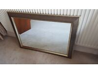 Beautiful MIRROR, 90cm by 65cm, gold frame, wooden, good condition, only £59