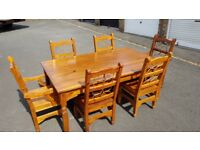 Barker & stonehouse dining room table with 4 chairs and 2 carver chairs