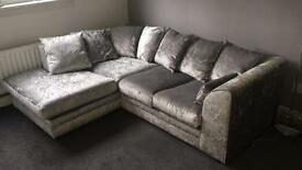 Crushed Velvet Couch
