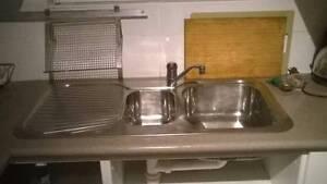 Stainless Steel Kitchen Sink - 1 &1/4 bowls + Mixer & 2x waste Newtown Inner Sydney Preview