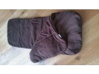 Clair de lune chocolate brown pushchair footmuff footwarmer