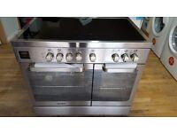 Hoover HVD9395IX 90cm Stainless Steel Ceramic Range Cooker