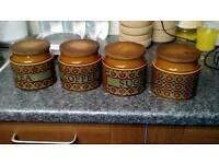 1977 Hornsea Bronte Kitchen Jars