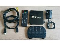 MX Pro Kodi TV streaming 1gb 4k entertainment box set package