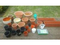 Various pots of different sizes