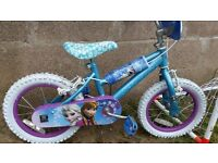14inch girls frozen bike