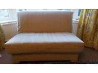 John Lewis sofa bed. Beige coloured.
