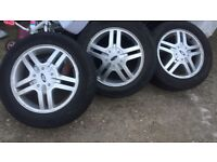 Ford Focus alloys wheels set of 4 with tyres