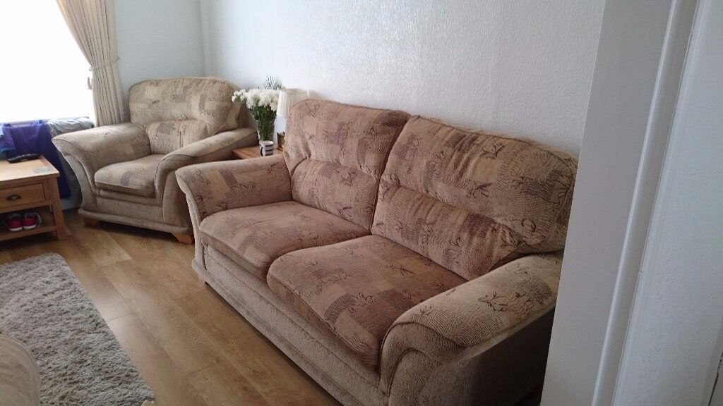 Chair and CouchExcellent Condition150 OVNOin Liverpool, MerseysideGumtree - Chair and Couch Excellent Condition £150 OVNO Very chunky and comfy couch and chair set Any questions about the chair or couch then please call