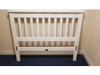 White wooden Double Bed - free delivery