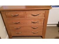 Beautiful Solid White Oak Chest of Drawers