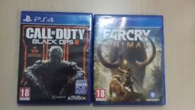 Call of Duty Black ops 3 and Farcry Primal For sale £22