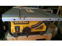 "Dewalt DW745 10""/254mm Compact Job Site Table Saw 240V *Mint*"