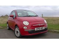 Red Fiat 500 1.2 Lounge 3 door Petrol Hatchback