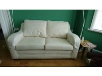 Cream, Comfy, Clean Multi York 2-Seater Sofa + Extra New Covers