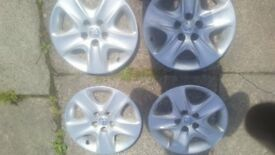 "x4 vauxhall 16"" wheel trims zafira astra vectra 5 stud"