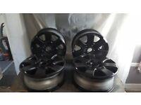 vw t5 alloy wheels Black