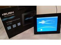 New Bush Pf-868 8 Inch Widescreen Black Digital Photo Frame Display