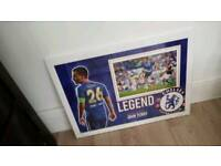 John Terry hand signed A2 framed photo display with Coa