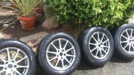 "Set of four 16"" wheels taken off my Nissan X trail, PCD 5 x 114.3."