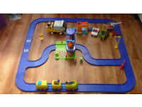 Early Learning Centre Engine & Track.Baby Walker.Motorcycle and Box with 220 Mega blocks