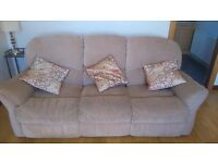 2 seater sofa and 3 seater sofa/recliner