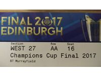 2 Rugby European Champions Cup Final tickets, Lower West Stand (27)
