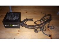 Corsair CX600 PSU (Spares or repairs)