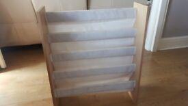 beech effect sling bookcase