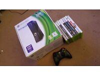 Xbox 360 Slim 250gb + games