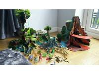 Elc wooden volcano and jungle playset