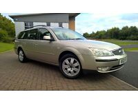 FORD MONDEO 1.8 ZETEC ESTATE ONLY 70000 MILES FULL SERVICE HISTORY MOT TILL MAY 2018