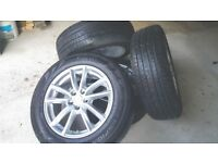 Set of 4 new wheels (alloys + Pirelli Scorpion tyres) 235/65 R19 from Range Rover Sport 2016.
