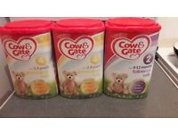 Cow and Gate baby milk unopened