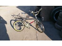Vintage old school bmx raleigh burner 1985