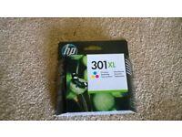 Original HP 301XL High Yield Tri-color Original Ink Cartridge NEW Never opened