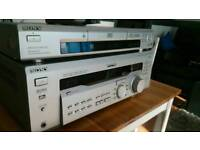 Sony receiver + Sony DVD player