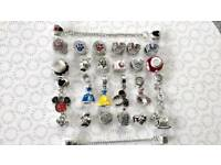 Genuine Disney Mickey S925 Sterling Silver Bracelet Charms Fit Pandora £5 each or 5 for £20