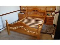 Pine bed frame used but in good condition.All bolts and screws available