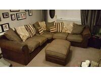 Scatterback 2plus2 corner sofa and footstool
