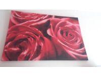 Large rose canvas