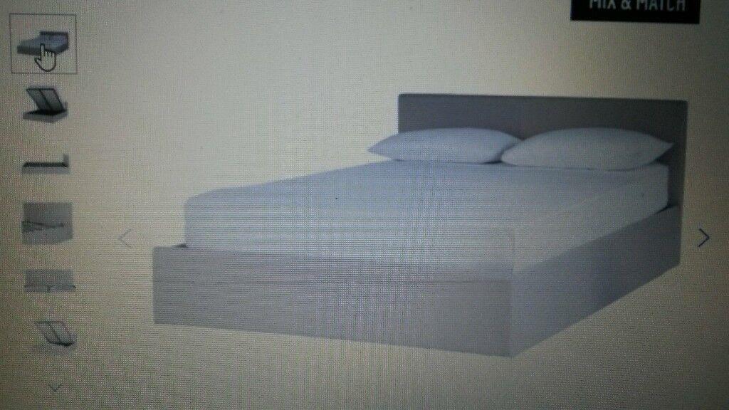 Small Double ottoman storage bed + Silentnight Mattress