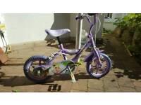 Girl's Disney Pink Princess bike with stabilisers