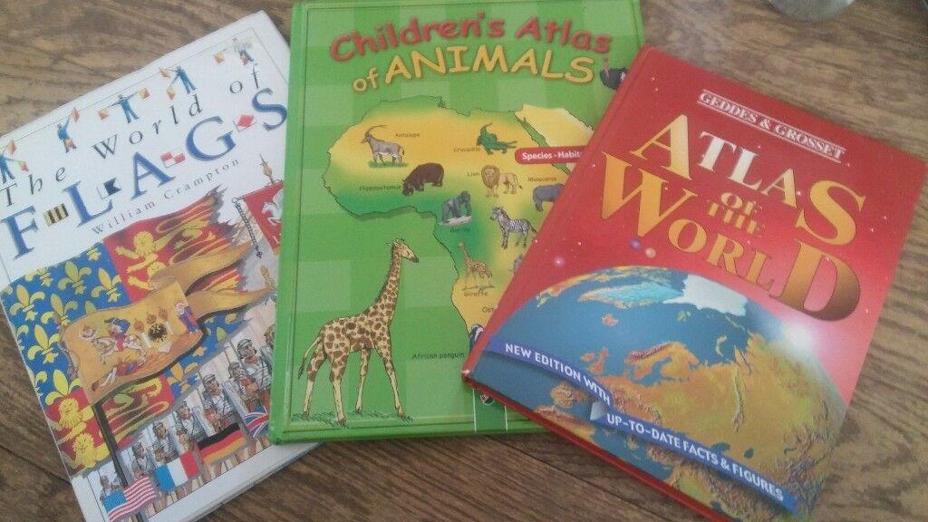atlas animals flags books homeschool preschool 3 bookd