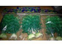3x2 packs of fake plastic plants for fish tank