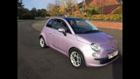 fiat 500 in metallic pink ! 1 lady owner from new! cheapest in the uk! IDEAL CHRISTMAS PRESENT!