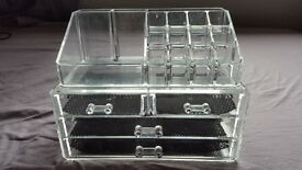 Clear Acrylic Makeup Organiser & Jewellery Box Display Stand